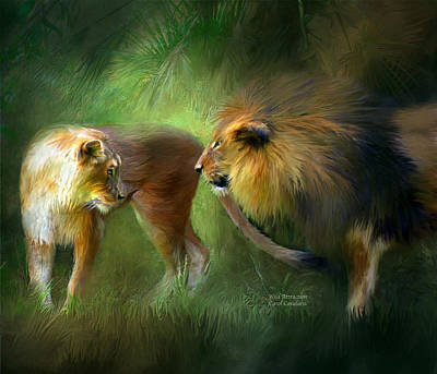 Wild Attraction Print by Carol Cavalaris