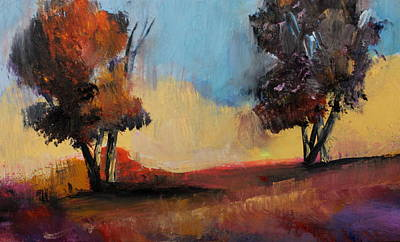 Painting - Wild Beautiful Places Trees Landscape by Michele Carter