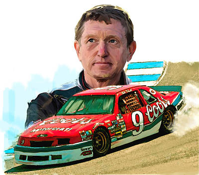 Steve Mcqueen Painting - Wild Bill  Bill Elliott  by Iconic Images Art Gallery David Pucciarelli