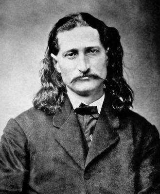 Poker Photograph - Wild Bill Hickok - American Gunfighter Legend by Daniel Hagerman