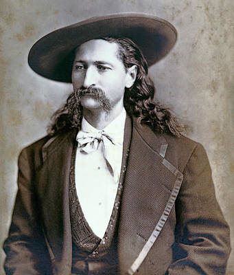 Wild Bill Hickok  1873 Art Print by Daniel Hagerman
