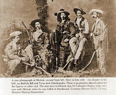 Photograph - Wild Bill Hickok, Buffalo Bill by Gary Wonning