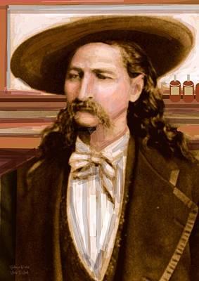 Wild Bill Hickok Art Print by Larry Lamb