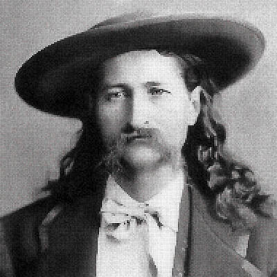 Wild Bill Hickok Mosaic Art Print