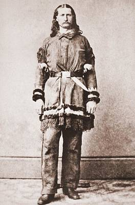 Wild Bill Hickok Photograph - Wild Bill Hickok Portrait In Buckskins by Everett