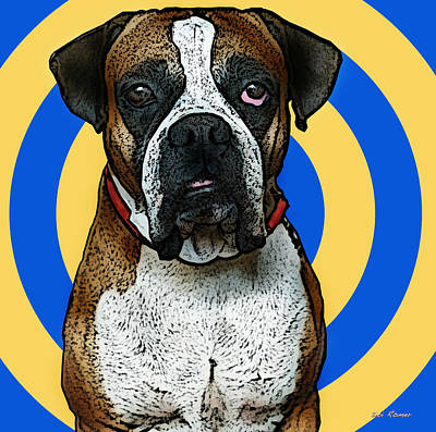 Dog Pop Art Photograph - Wild Boxer 1 by Bibi Romer