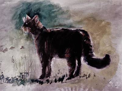 Mixed Media - Wild Cat by Khalid Saeed