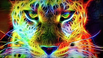 Mixed Media - Wild Cat's Eyes by Lilia D