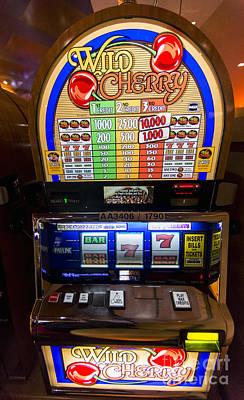 Wild Cherry Slot Machine At Lumiere Place Casino Art Print by David Oppenheimer