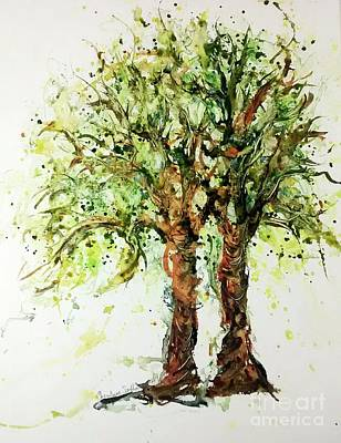 Painting - Wild Cigar Trees Watercolor by CheyAnne Sexton