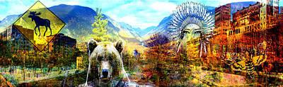 Moose Mixed Media Digital Art - Wild City by Erwann K