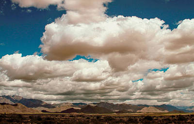 Photograph - Wild Clouds Over Arizona I-40 by Bonnie Follett