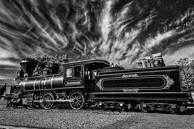Wild Clouds Over Old Train Art Print