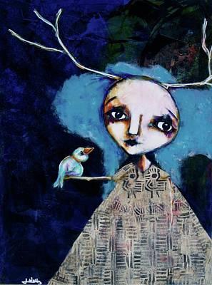 Wall Art - Mixed Media - Wild Divine Child by Jen Walls