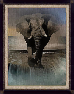 Digital Art - Wild Elephant Montage by Clive Littin