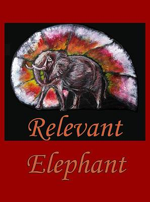 Painting - Wild Elephant by Tom Conway