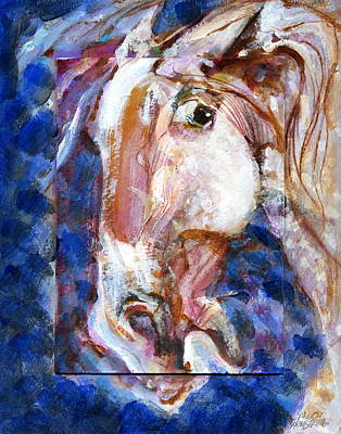 Wild Eye Art Print by Mary Armstrong