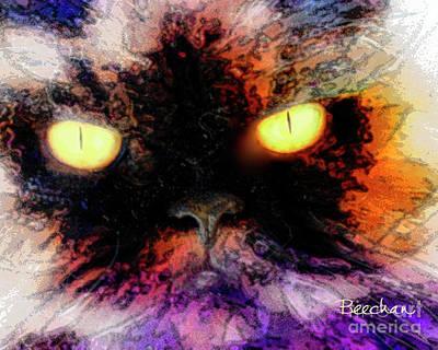 Digital Art - Wild Eyes by John Beck