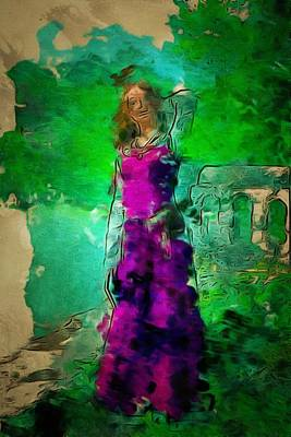 Digital Art - Wild  Fashion In Digital Watercolor by Mario Carini