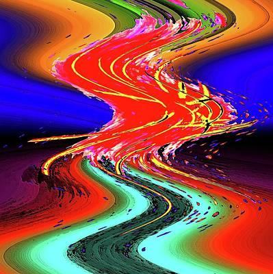 Digital Art - Wild Fire by Ronald Irwin