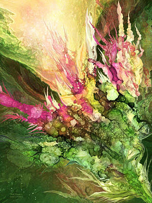 Wild Flowers Mixed Media - Wild Flower 1 -  Organica by Carol Cavalaris