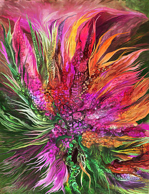 Mixed Media - Wild Flower 2 - Organica by Carol Cavalaris