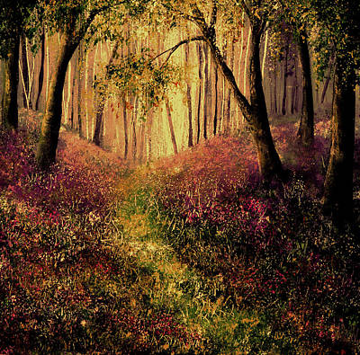 Wild Flower Forest Art Print by Ann Marie Bone
