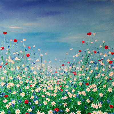 Wild Flower Meadow Original by K McCoy