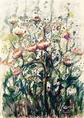 Painting - Wild Flowers # 2 by Laila Awad Jamaleldin