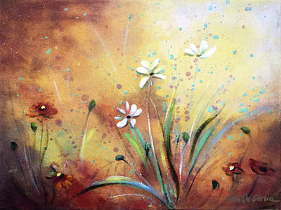 Painting - Wild Flowers 1 by Gina De Gorna