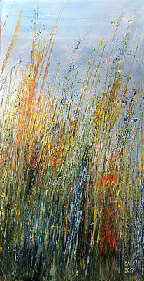 Painting - Wild Flowers And Hay by Dorothy Maier