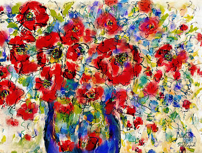 Mixed Media - Wild Flowers Bouquet by Natalie Holland