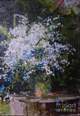 Wild Flowers Oil On Canvas Panting Original by Luv Photography