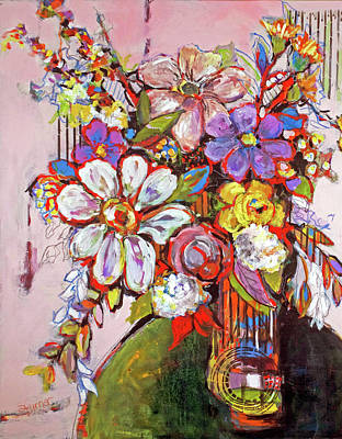 Painting - Wild Flowers by Sharon Furner