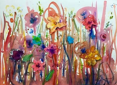 Wall Art - Painting - Wild Flowers by Sonia Mocnik