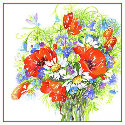 Wall Art - Painting - Wild Flowers by Svetlana Titarenko