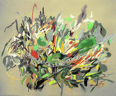 Wild Flowers  Art Print by Tadeush Zhakhovskyy