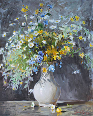 Vase Painting - Wild Flowers by Ylli Haruni