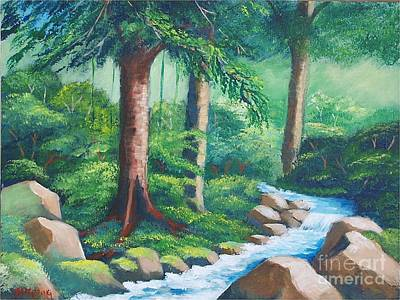 Painting - Wild Forest River by Jean Pierre Bergoeing
