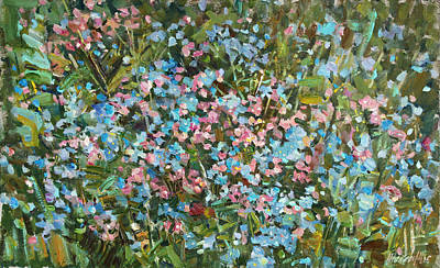 Painting - Wild Forget Me Nots by Juliya Zhukova
