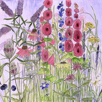 Painting - Wild Garden Flowers by Laurie Rohner