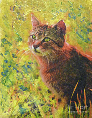 Painting - Wild Garden Tabby by Richard James Digance