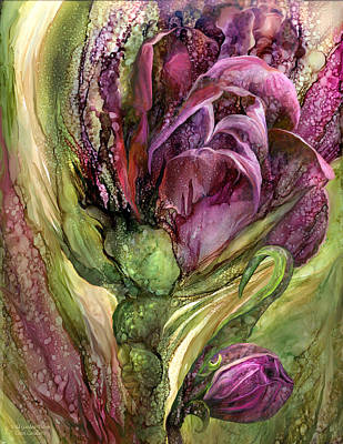 Mixed Media - Wild Garden Tulips by Carol Cavalaris