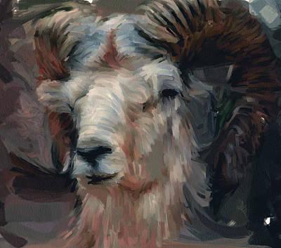 House Pet Digital Art - Wild Goat Portrait by Yury Malkov
