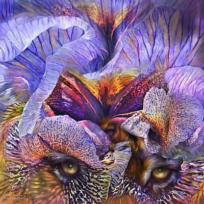 Tiger Art Mixed Media - Wild Goddess - Tigress by Carol Cavalaris
