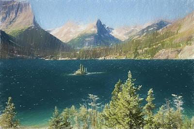 Photograph - Wild Goose Island Glacier Nat. Park, Montana by Rusty R Smith