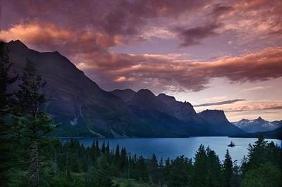 Wild Goose Island Glacier National Park Art Print