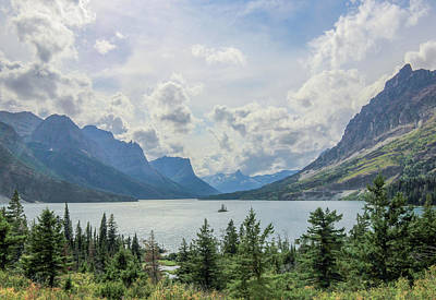 Photograph - Wild Goose Island Overlook // St. Mary Lake, Glacier National Park  by Nicholas Parker