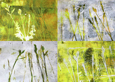 Painting - Wild Grass Collage 2 by Nancy Merkle