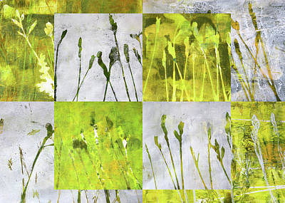 Painting - Wild Grass Collage 3 by Nancy Merkle